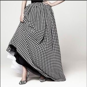 Talbots Maxi Skirt with Houndstooth Chiffon